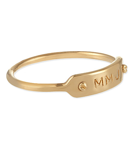 MARC BY MARC JACOBS Plaque ring (Oro
