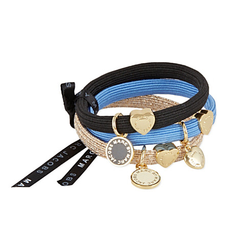 MARC BY MARC JACOBS Set of three stretchy hairbands (Blue+quartz+multi