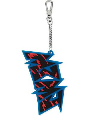 MARC BY MARC JACOBS Slasher logo bag charm