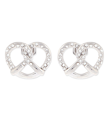 MARC BY MARC JACOBS Lost & Found salty pretzel earrings (Argento