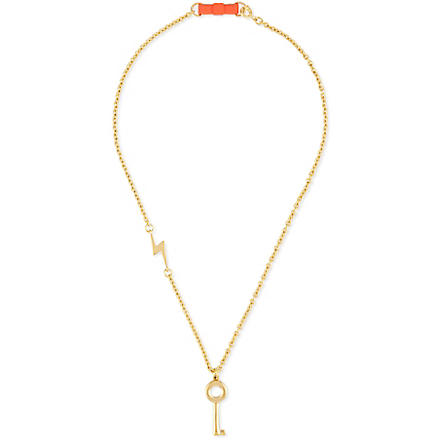 MARC BY MARC JACOBS Lost & Found key necklace (Oro
