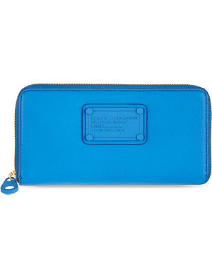 MARC BY MARC JACOBS Electric blue leather purse
