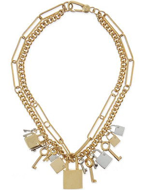 MARC BY MARC JACOBS Lock and key statement necklace