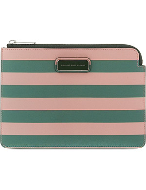 MARC BY MARC JACOBS Sophisticato rose zip pouch