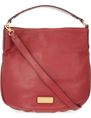 MARC BY MARC JACOBS New Q Leather Hobo Bag