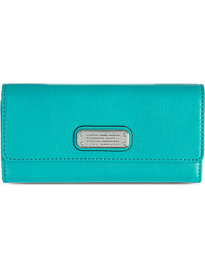 MARC BY MARC JACOBS NewQ long tri-fold leather wallet