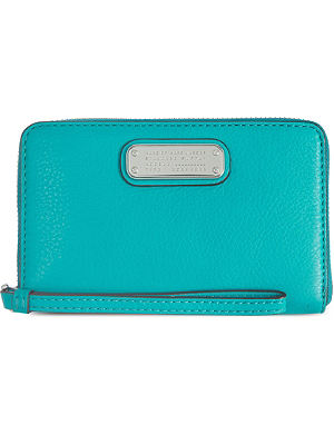 MARC BY MARC JACOBS Wingman leather zip-around wristlet wallet