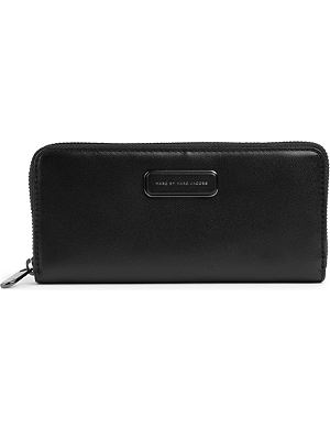MARC BY MARC JACOBS Ligero slim leather zip-around wallet