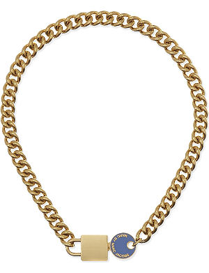 MARC BY MARC JACOBS Enamel lock in chain necklace