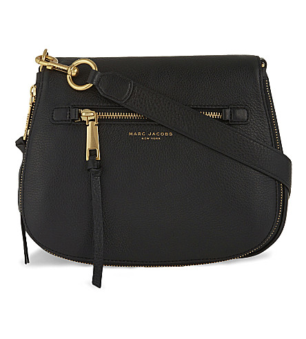 MARC JACOBS Recruit leather saddle bag (Black