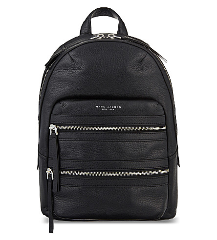 MARC JACOBS Biker leather backpack (Black