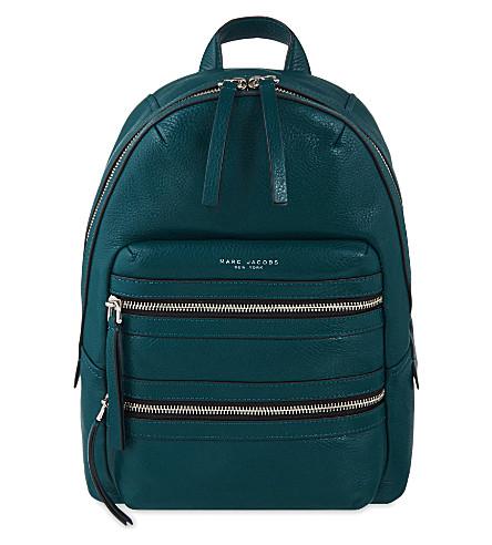 MARC JACOBS Biker leather backpack (Teal