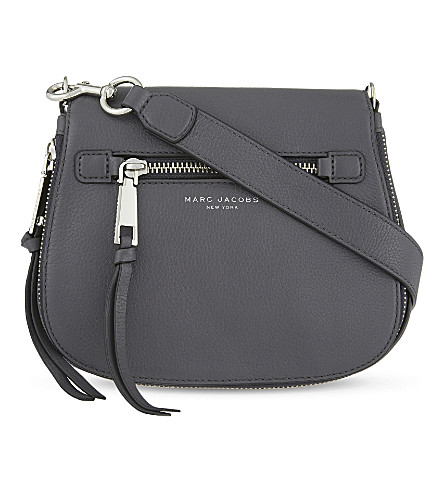 MARC JACOBS Recruit small grained leather saddle bag (Shadow