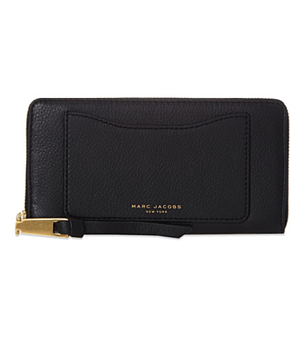 MARC JACOBS Recruit grained leather wallet (Black