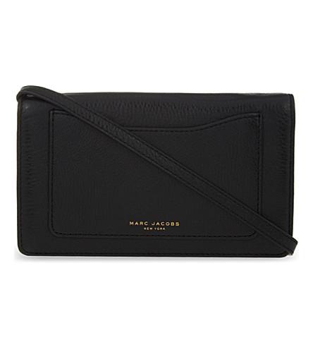 MARC JACOBS Recruit leather wallet (Black