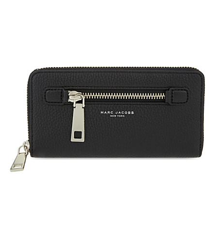 MARC JACOBS Gotham City leather wallet (Black