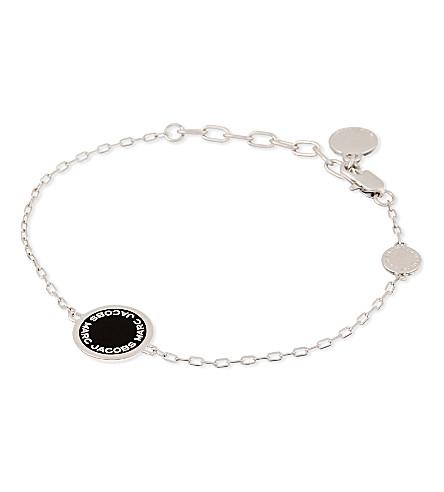 MARC JACOBS Logo pendant bracelet (Black/argento