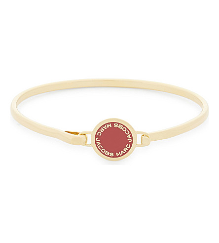 MARC JACOBS Enamel disc hinged bracelet (Bisou+red