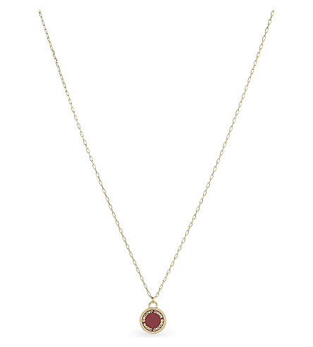 MARC JACOBS Enamel logo disc necklace (Bisou+red