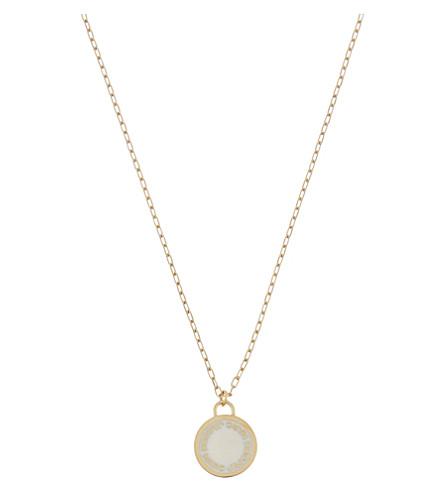 Enamel logo disc necklace