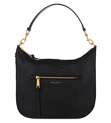 MARC JACOBS Recruit leather hobo shoulder bag (Black