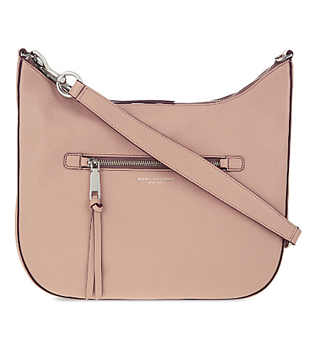 MARC JACOBS Recruit leather hobo shoulder bag (Nude