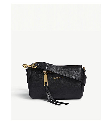 MARC JACOBS Recruit leather cross-body bag (Black