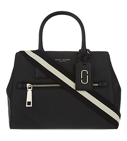 MARC JACOBS Gotham City East-West grained leather tote (Black