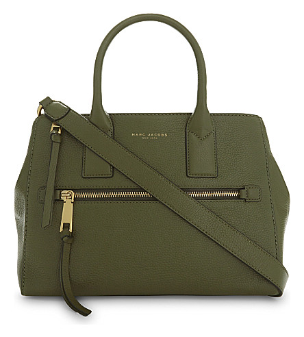 MARC JACOBS Recruit East West leather tote (Army+green