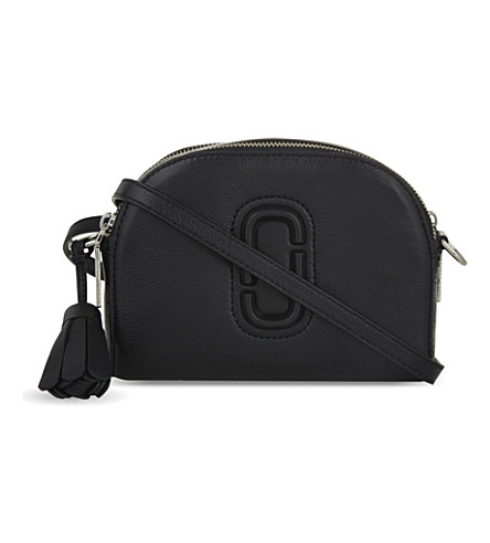 MARC JACOBS Shutter small leather camera bag (Black