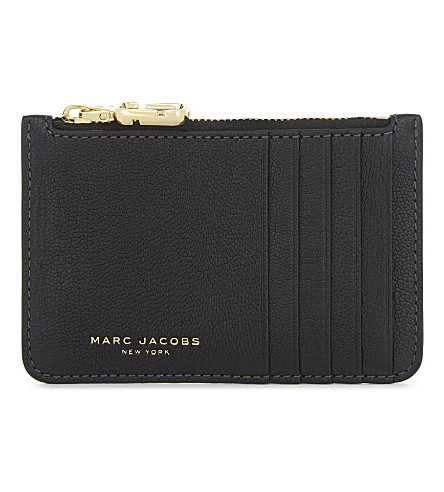 MARC JACOBS Perry leather card wallet (Black