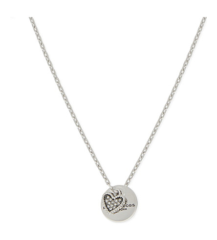 MARC JACOBS Coin necklace (Crystal/silver