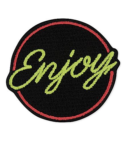 MARC JACOBS Neon enjoy patch (Black multi