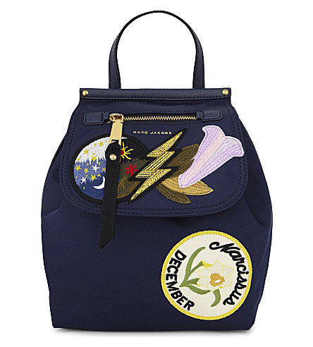 MARC JACOBS Embellished zip backpack (Blue