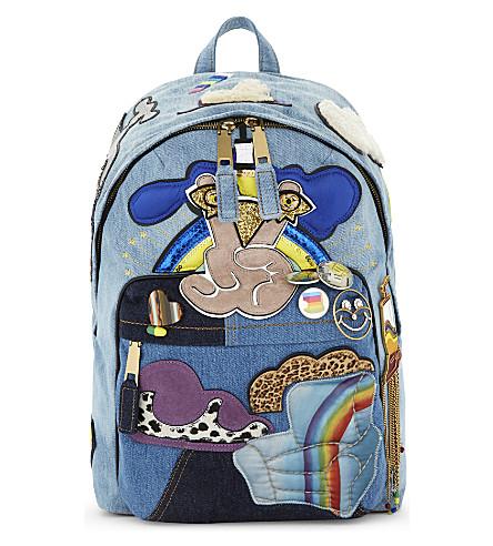 MARC JACOBS Denim biker backpack (Denim