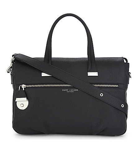 MARC JACOBS The Standard East-West medium leather tote (Black