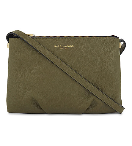 MARC JACOBS The Standard leather cross-body bag (Army+green+multi