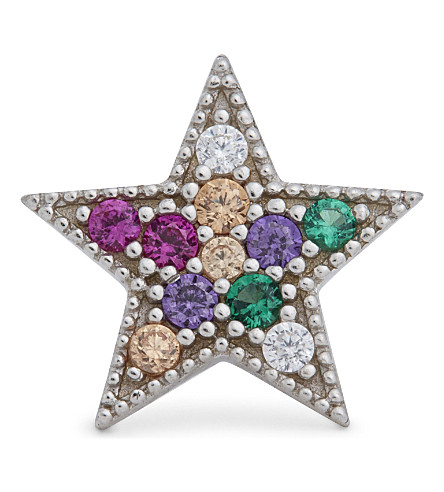 MARC JACOBS Rainbow star single stud earring (Multi/silver