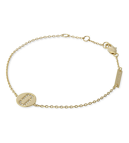 MARC JACOBS Double J pavé stone bracelet (Gold