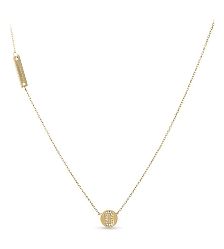 MARC JACOBS Double J necklace (Gold