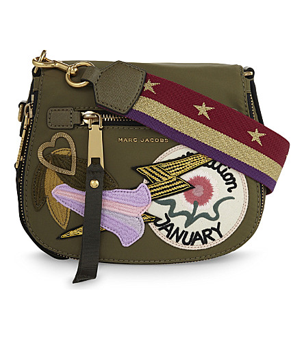MARC JACOBS Nomad small nylon saddle bag (Military green multi