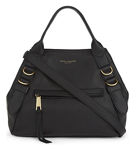 MARC JACOBS The Anchor leather shoulder bag (Black