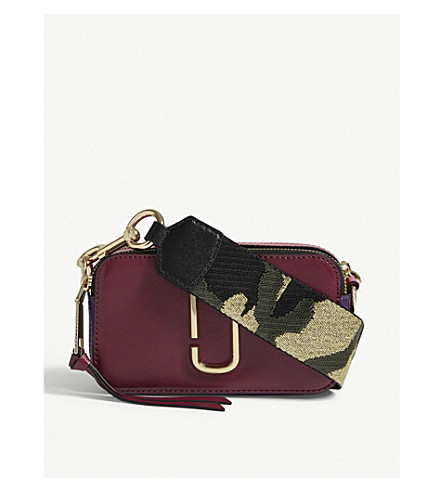 MARC JACOBS Snapshot leather camera bag (Berry+multi