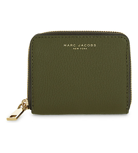 MARC JACOBS Recruit leather purse (Army+green