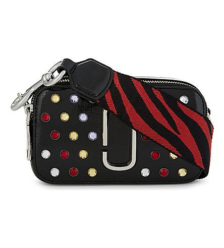 MARC JACOBS Jewel snapshot leather camera bag (Black