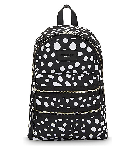 MARC JACOBS Spot printed biker backpack (Black+multi