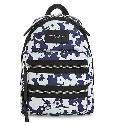 MARC JACOBS Blumon Biker canvas mini backpack (Blue+multi
