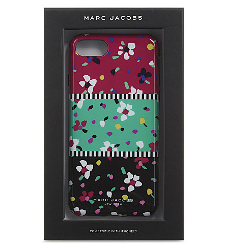 MARC JACOBS Painted flowers iPhone 7 case (Black+multi