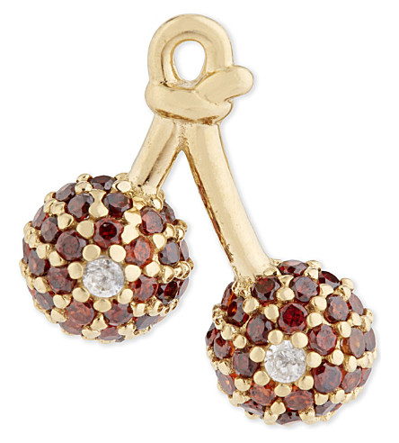 MARC JACOBS Cherry stud earring (Gold