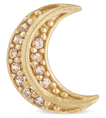 MARC JACOBS Crescent moon stud earring (Gold
